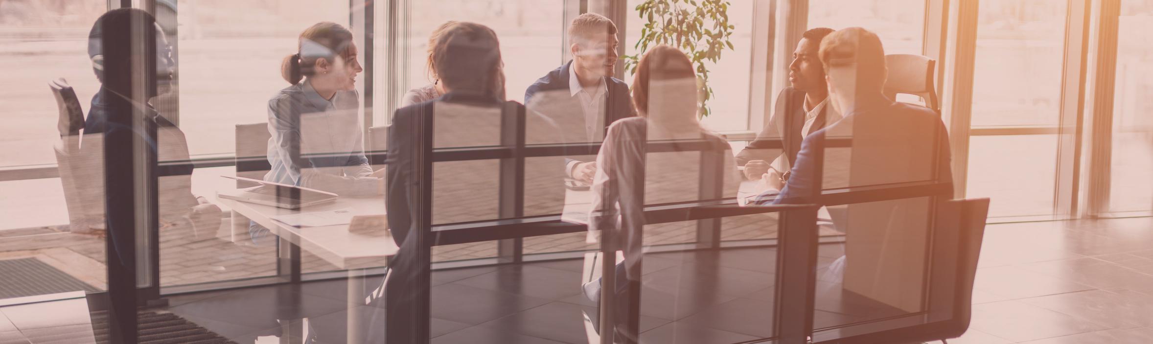Mitarbeiter in einem Meeting